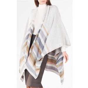 BCBGMaxAzria Multicolor Striped Poncho